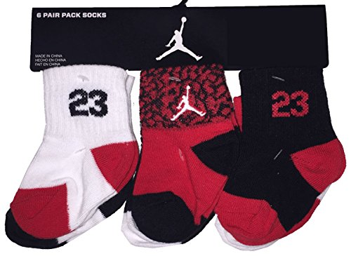 Nike Air Jordan Baby Boy's Crew Socks, 6 - Nike Jordan For Baby Boys