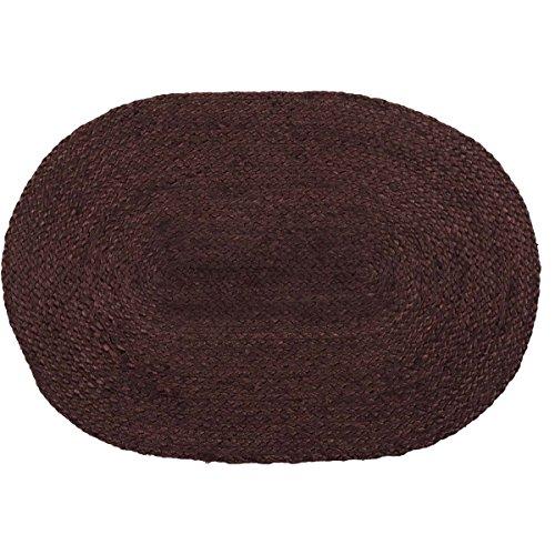 VHC Brands 37848 Harvest & Thanksgiving Primitive Flooring-Burgundy Jute Red Oval Rug, 20 x 30, Non-Stenciled (Burgundy Oval Rug)