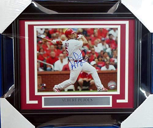 Signed Albert Pujols Photograph - Framed 8x10 Beckett BAS #A20723 - Beckett Authentication - Autographed MLB Photos