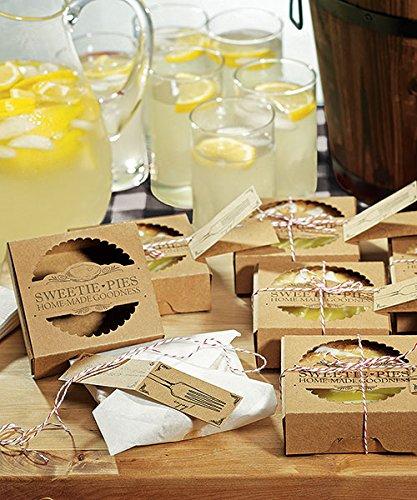 Miniature Pie Packaging Kit - Boxes: 9 cm x 9 cm x 3 cm H - Boxes: 3 ½'' x 3 ½'' x 1 1/8'' HPKG contains (Mini Pie Boxes)