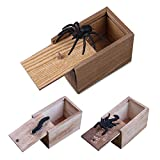 Insect Prank Box Novelty Gag Gifts, Lifelike Pop Out Wooden Scare Box Hilarious Scarebox Pranking Gadgets Presents for Kids Adults, Random Bugs
