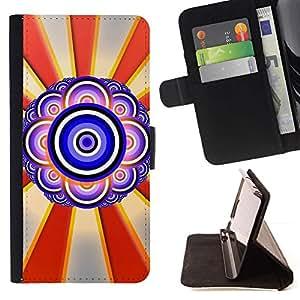 For Sony Xperia M2 Case , Diseño Ojo abstracto- la tarjeta de Crédito Slots PU Funda de cuero Monedero caso cubierta de piel