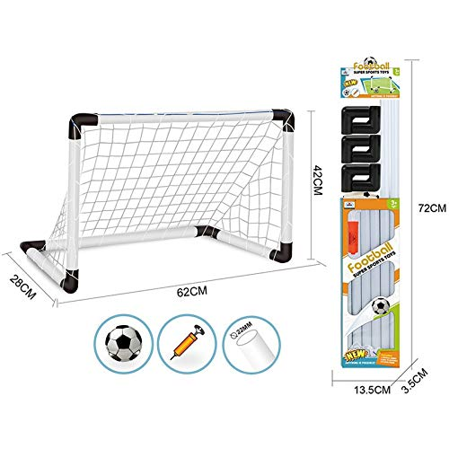 Amazon price history for Jeval Soccer Goal Set, 1 Set Portable Kids Soccer Goals Football Goals Set with Net + Ball + Pump Indoor Outdoor for Kids 3-7 Years Old