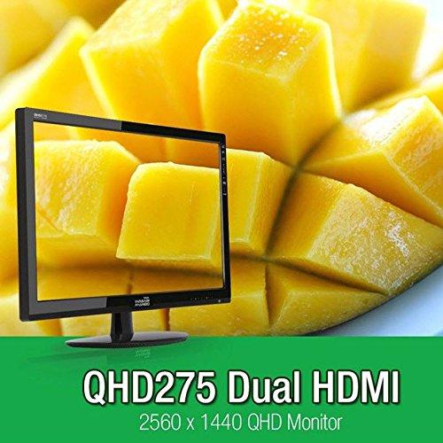 New WASABI MANGO QHD275 Dual HDMI 27″ LED LG S-IPS 2560×1440 WQHD (D-sub, HDMIx2, Dual Link DVI) Computer PC Monitor Top Offers