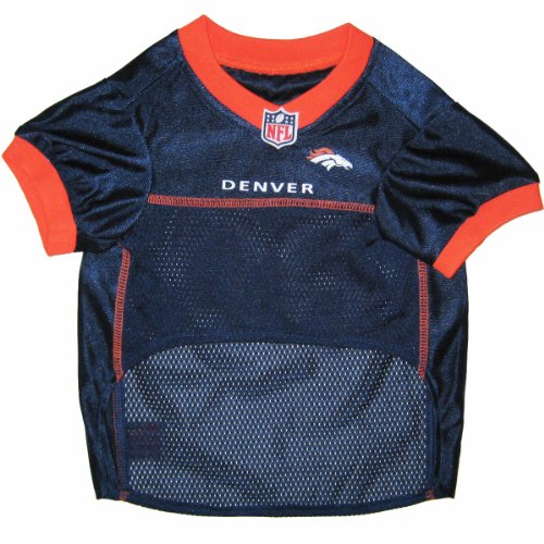 Image of Pets First NFL DENVER BRONCOS DOG Jersey, X-Large