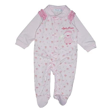 Melby – Pelele algodón rosa a flores para bebé (3 Meses)