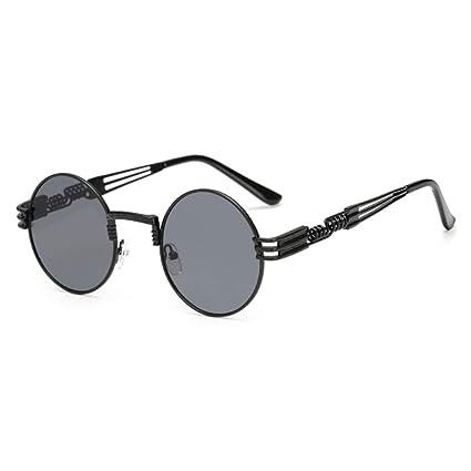 bab06de47cd70 Gothic Steampunk Sunglasses Men Metal Round Shades Male Clear Sun Glasses  For Women Hip Hop Steam