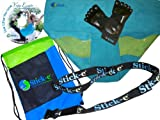Product review for Stick-e Yoga Anywhere Bundle with Full Toe Socks and Blue Towel