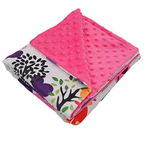 Premium Quality-Super Soft Baby Blanket-2 Layers Printed and Dotted Minky For Boys &Girls (Pink+Giraff) by Ørnen