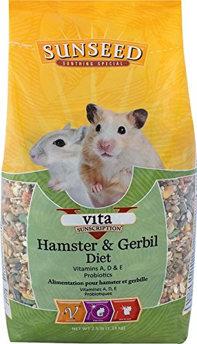 (Sun Seed Company Sss93413 6-Pack Sunscription Vita Daily Diet Hamster/Gerbil Food, 2.5-Pound)