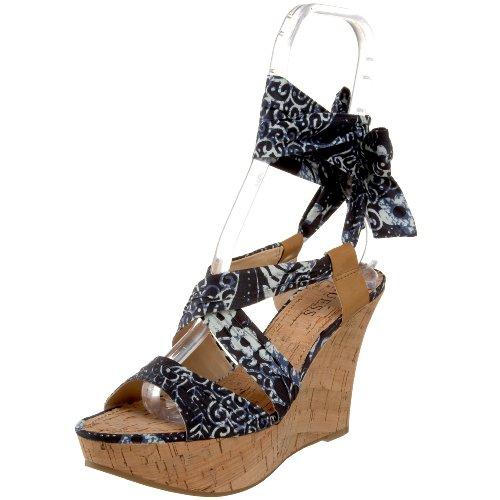 Guess - Sandalias de vestir para mujer Blue Multi/Ambra 10