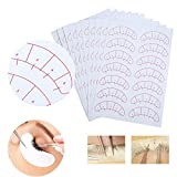 140 Pairs Eyelash Extensions Positioning Sticker, Under Eye Pads, Grafting Eyelash Isolation Paper Adhesive Patches Tool