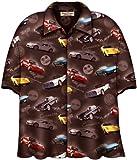 Corvette Cars Brown Hawaiian Camp Shirt, David Carey (L)