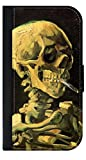 Artist Vincent Van Gogh's Skull of a Skeleton with a Burning Cigar - Passport Protector Case Cover / Card Holder for Travel