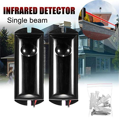 yunbox299 Security Infrared Detector, Home Alarm, Single Beam Infrared Detector Alarm Barrier Sensor Photoelectric Home Security