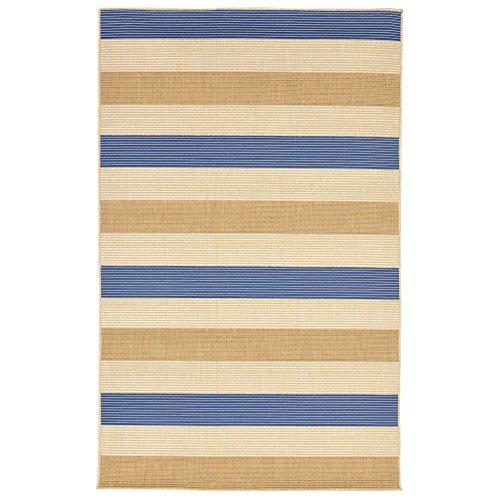 Camel Stripes Rug - Liora Manne TER45276253 2762/53 Multi Stripe Topaz Rugs, Indoor/Outdoor, 39