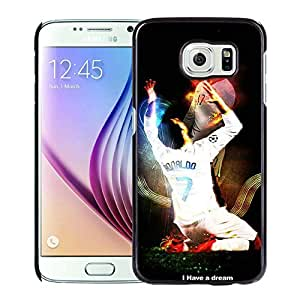 High Quality S6 Case,Cristiano Ronaldo Real Madrid 01 Black Samsung Galaxy S6 Screen Phone Case Luxury and Genuine Design