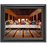 Jesus Christ The Last Supper Religious Wall Picture Framed Art Print