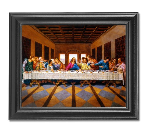 Jesus Christ The Last Supper Religious Wall Picture Framed