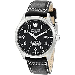 Swiss Eagle Men's SE-9059-01 Ranger Analog Display Swiss Quartz Black Watch