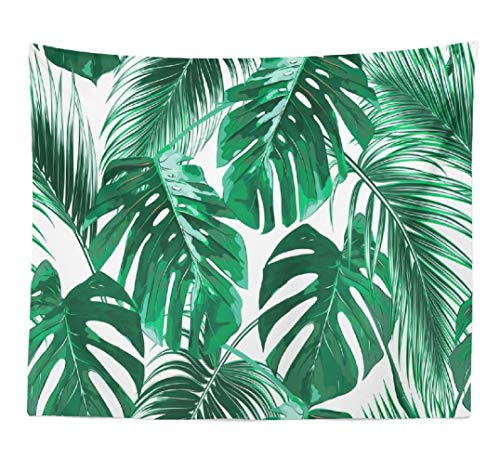 ASOCO Leaf Tapestry, Tapestry Wall Hanging Leaf Colorful Safari Tropical Palm Leaves Wall Tapestry for Bedroom Living Room Tablecloth Dorm 80