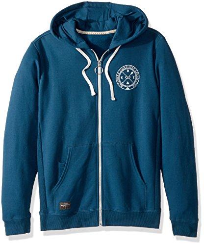 Quiksilver Pullover Sweatshirt - Quiksilver Waterman Men's Ring The Bell Zip Hoody Sweatshirt, Major Blue, M