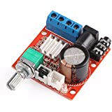 12 Volt Amplifier Board, DROK PAM8610 Mini Stereo AMP 10W+10W Digital Audio Amplify Circuit Class D 12V DC Portable Low Power Ampli Module Dual Channel Amplifier DIY for PC Speaker Car Automotive