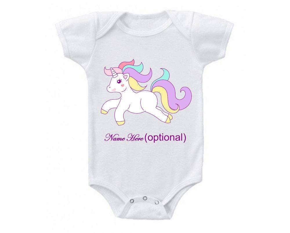 Infant Baby Onesie Shirt Shower Gift Unicorn Personalized