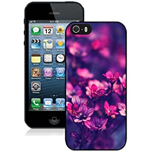 Purple Wildflowers Durable High Quality iPhone 5S Phone Case