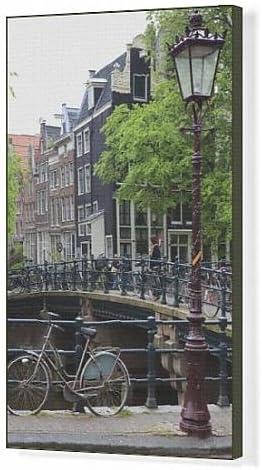 Cuadros en lienzo de bicicleta, oudezijds, Amsterdam, diseño de ...