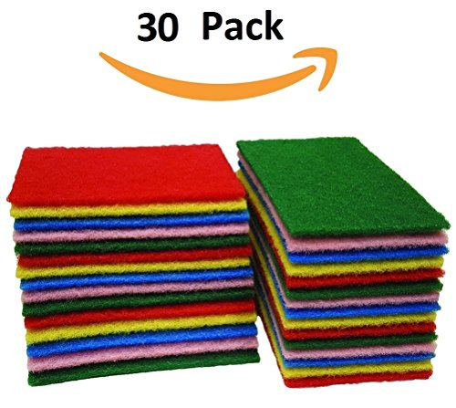 pack-of-30-all-surface-scouring-pads-dish-scrubbers-cleaning-sponge-beautiful-colors