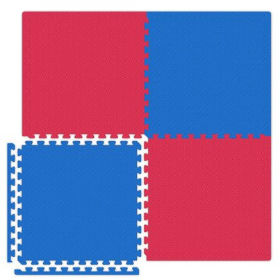 Economy SoftFloors Set in Red / Royal Blue Size: 20′ x 30′