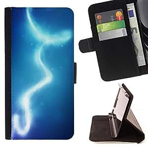 - Lights Blue Water Sky - - Prima caja de la PU billetera de cuero con ranuras para tarjetas, efectivo desmontable correa para l Funny HouseFOR Sony Xperia m55w Z3 Compact Mini