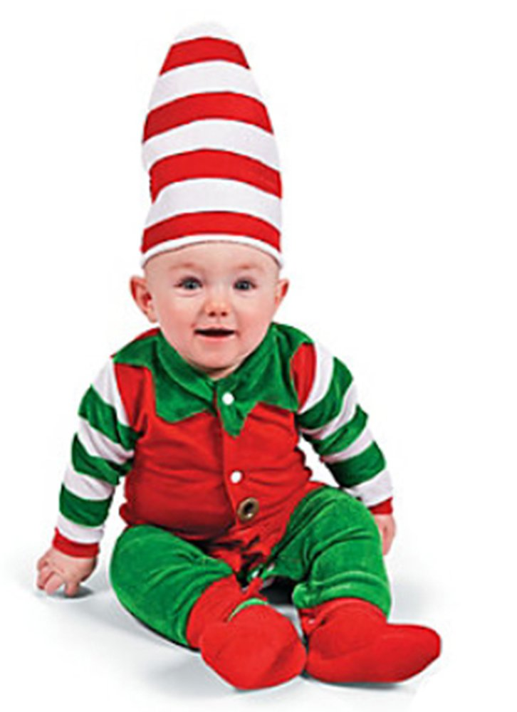 amazoncom baby elf costume santas lil helper christmas halloween childrens costumes baby