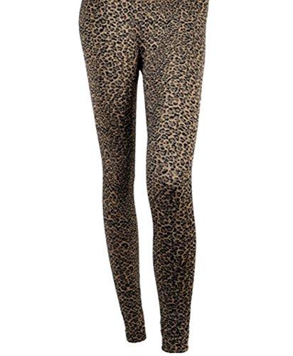 'Sexy Legs' Brown Leopard Print Fashion Leggings, 2XL