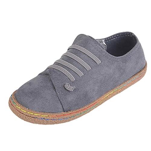 Mocasines Planos Primavera otoño mocasín Zapatos Cuero Pisos Cordones Casual Dedo del pie Redondo de Las Mujeres: Amazon.es: Zapatos y complementos