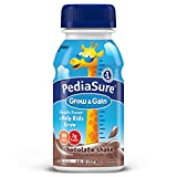 PediaSure Grow & Gain Nutrition Shake For Kids, Chocolate, 8 fl oz (Pack of 12)
