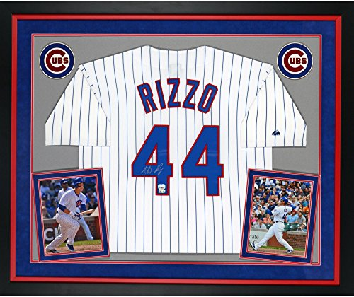 Anthony Rizzo Chicago Cubs Autographed Deluxe Framed Majestic Replica Pinstripe Jersey - Fanatics Authentic Certified Autographed Majestic Authentic Pinstripe Jersey