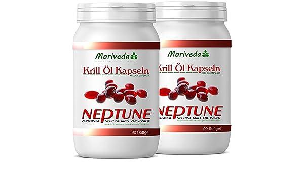 Aceite de Krill cápsulas 180, 100% puro NEPTUNE aceite de krill premium - Omega 3,6,9 astaxantina, fosfolípidos, colina, vitamina E - Calidad de la marca ...