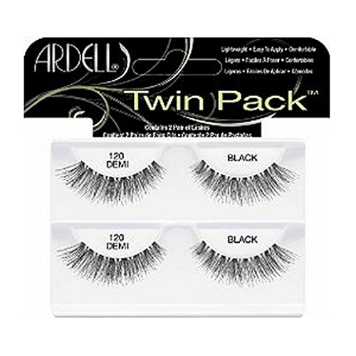 (3 Pack) ARDELL Twin Pack Lashes - 120 Demi Black