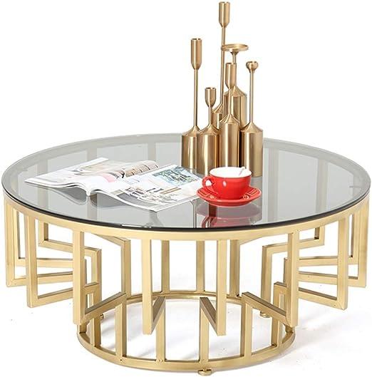mesas de Centro Modernas Mesa de Centro Redonda de Cristal Negro ...