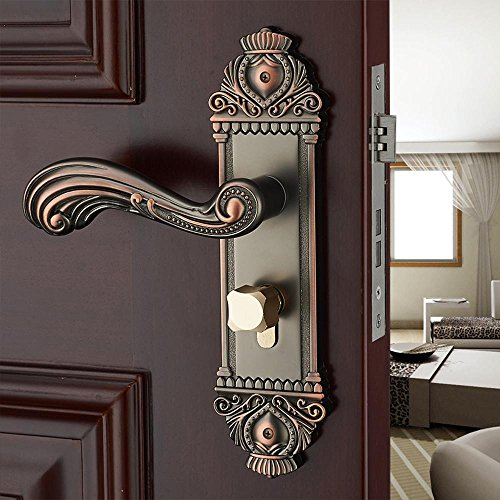 Amazon.com: Jingzou European - style zinc alloy door locks bedroom solid wood door locks antique interior door locks hardware locks: Home & Kitchen