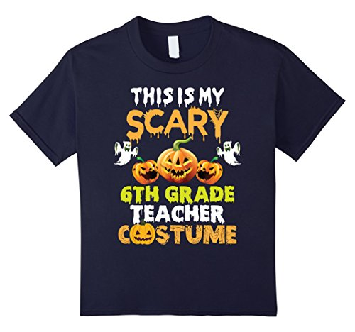 Kids This is my Scary 6th Grade Teacher Costume Halloween T-shirt 12 (Halloween Costumes 6th Grade Boy)