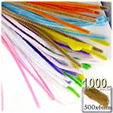The Crafts Outlet Chenille Stems, Pipe Cleaner, 20-inch (50-cm), 1000-pc, Pastel Mix