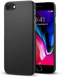 【Spigen】 スマホケース iPhone8 ケース 薄型 軽量 高品質PC 傷防止 カメラ保護 ハードカバー シン・フィット 054CS22208 (ブラック)