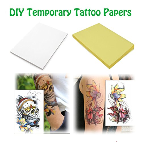 A4 Size 10 Sheets DIY Temporary Tattoo Transfer Paper Printable Customized for Inkjet Printer 11.7 x 8.3