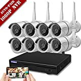 【2019 New】 Wireless Security Camera System,OHWOAI 1080P NVR 8Pcs 960P Home Surveillance IP Cameras,HD Outdoor Indoor Weatherproof Security Cameras, Wireless CCTV System No Hard Drive.