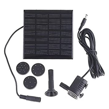 Amazoncom AGPtek 112 Watt Solar Powered Garden Pond Waterfall