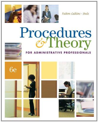Procedures+Theory F/Admin.Profess. W/Cd