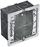Hubbell-Raco 232-OW Old Work 2-1/8-Inch Deep Square Box Kit, Welded with 206RAC, (8) 1/2-Inch & (4) TKO Eccentric Side Knockouts, 4-Inch